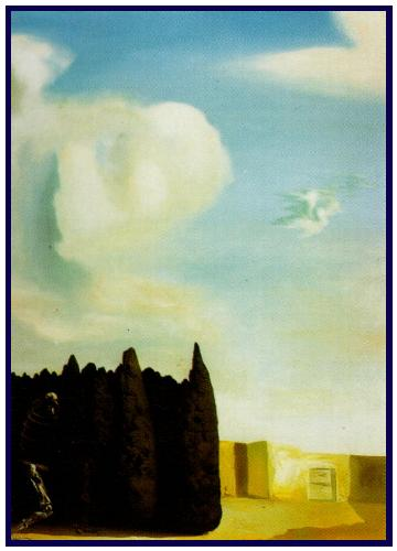 The Isle of the Dead - Central Courtyard from the Isle of the Dead - Reconstructive Obsession after Böcklin. 1934